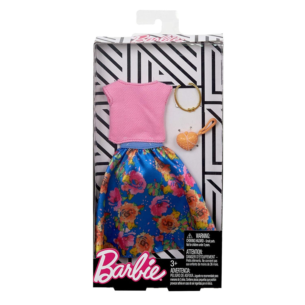 Barbie Complete Looks Floral Skirt & Pink Top Fashion Pack