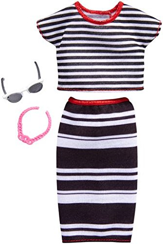 Barbie Fashions Complete Look Striped Top & Skirt Set