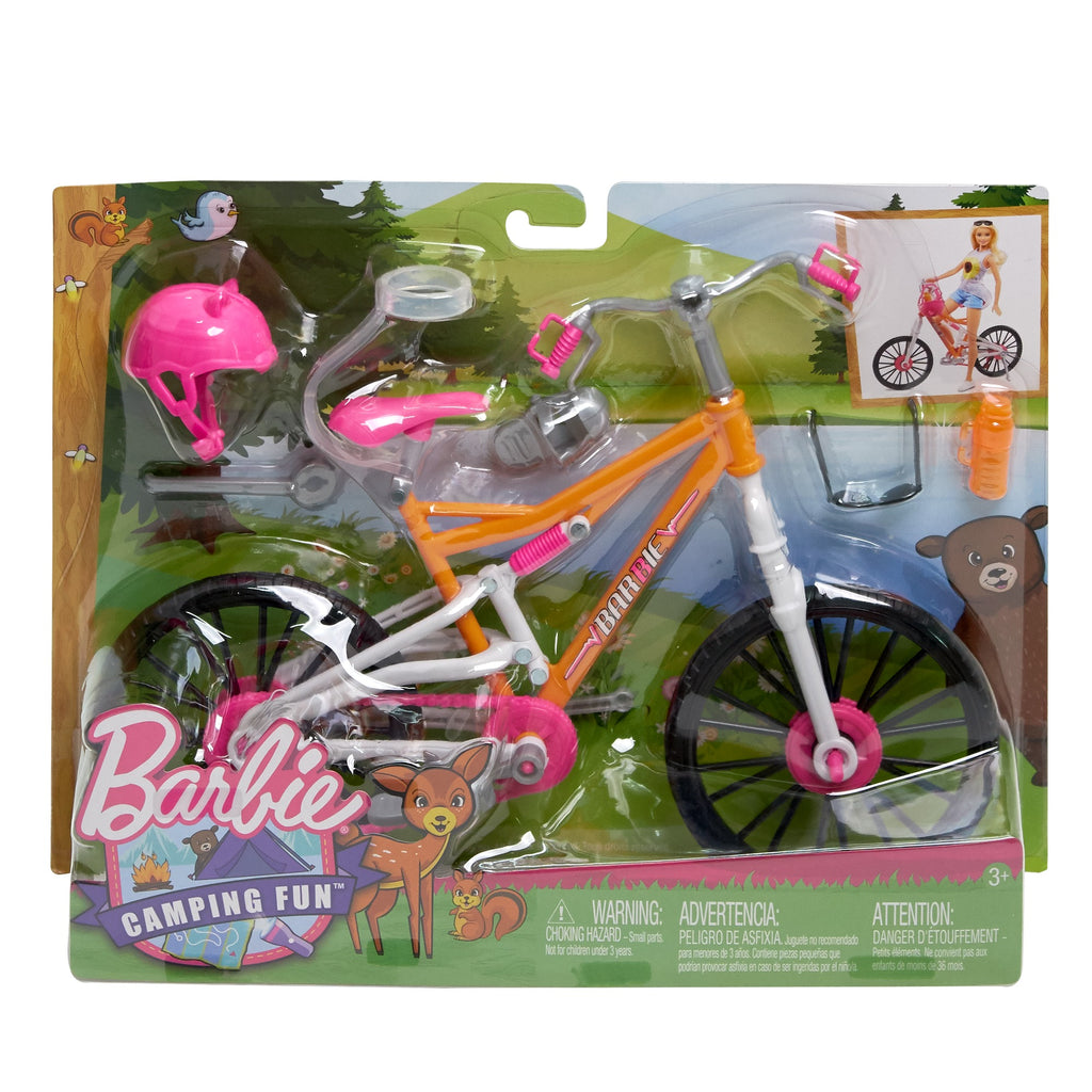 Barbie Mountain Bike with Doll Helmet, Sunglasses & Water Bottle