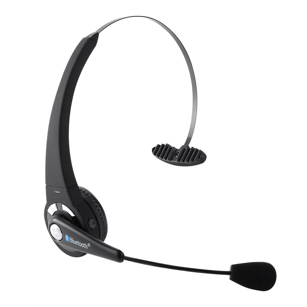 Cell Phone Over The Head Wireless Bluetooth Headset Boom Mic Headphone Earphone