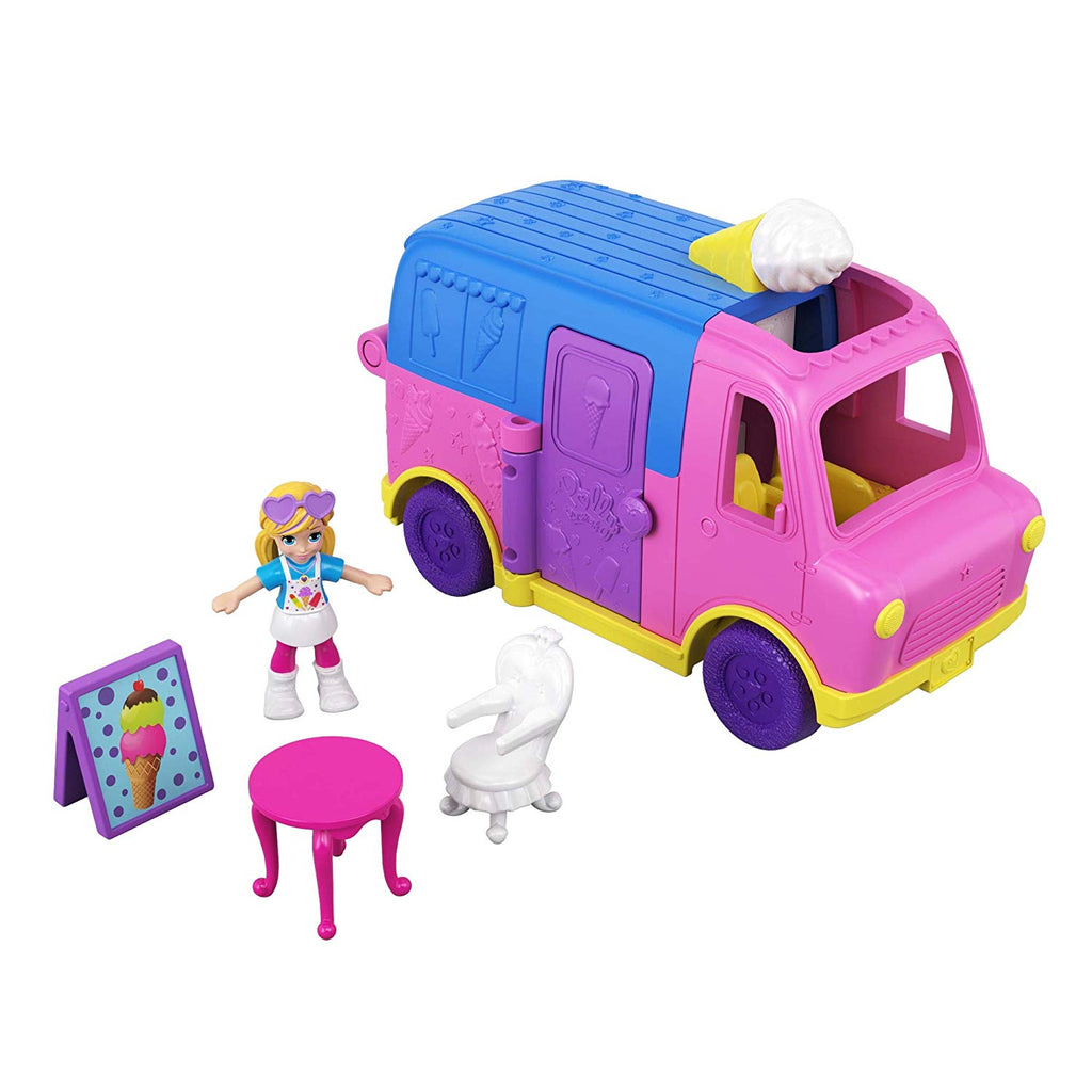 Polly Pocket Pollyville Ice Cream Truck