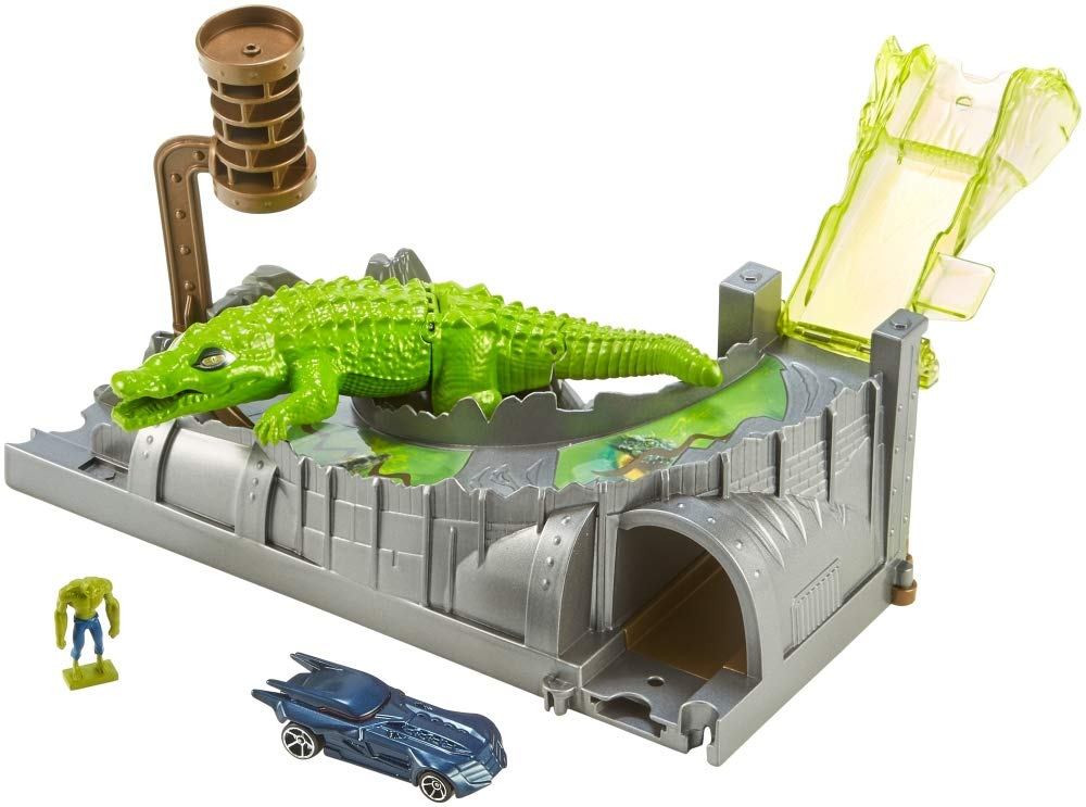 Hot Wheels DC Killer Croc Playset