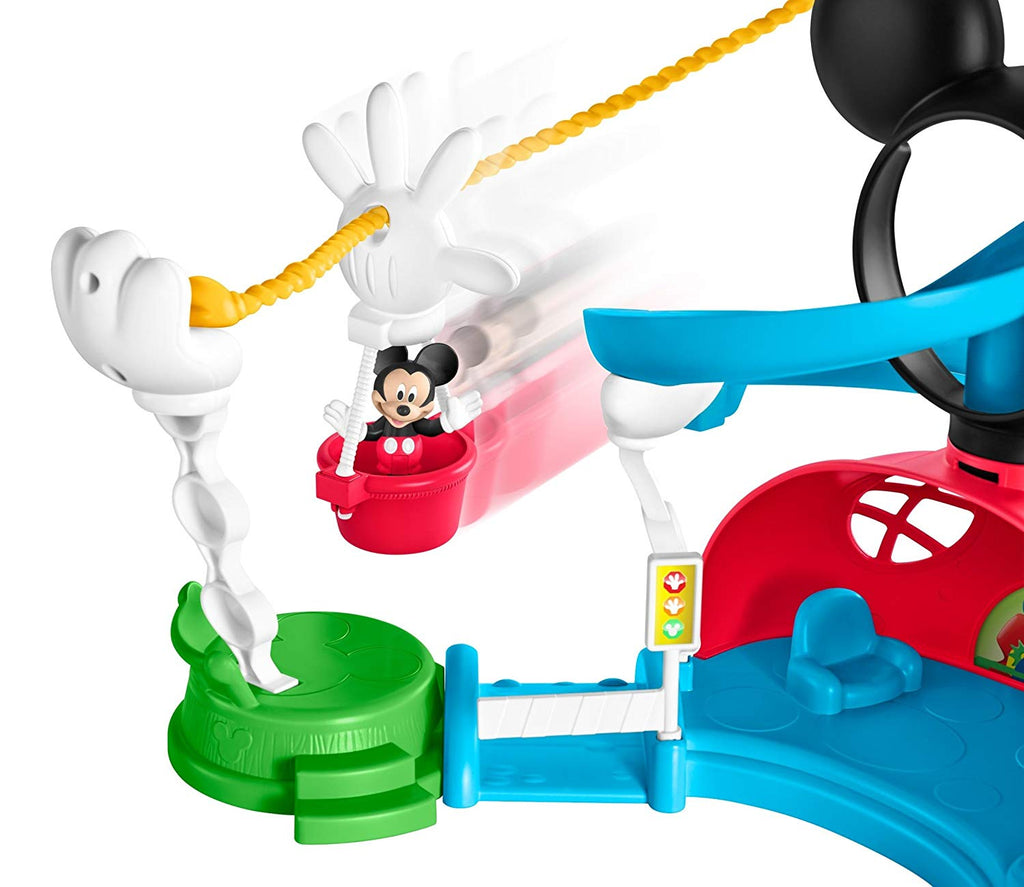 Disney Mickey Mouse Clubhouse Zip, Slide and Zoom Clubhouse Play Set
