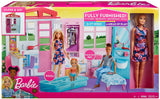 Barbie Doll and Dollhouse Portable Playset with Pool and Accessories