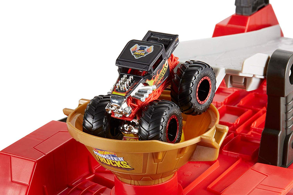 Hot Wheels Monster Trucks Downhill Race & Go Playset
