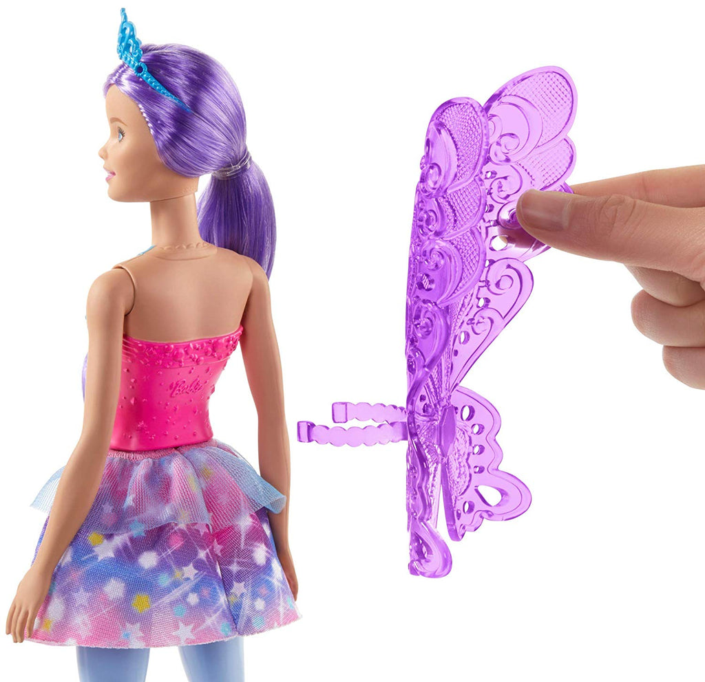 Barbie Dreamtopia Fairy Doll 12 Inch with Purple Hair and Wings