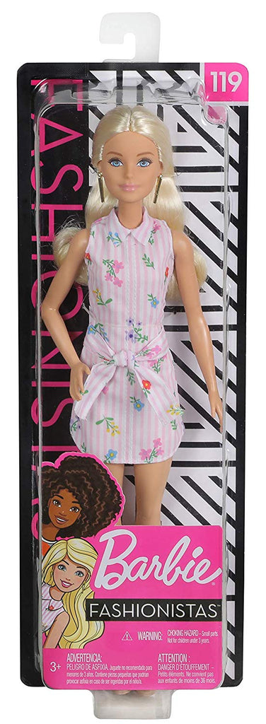 Barbie Fashionistas Doll with Long Blonde Hair Floral Outfit