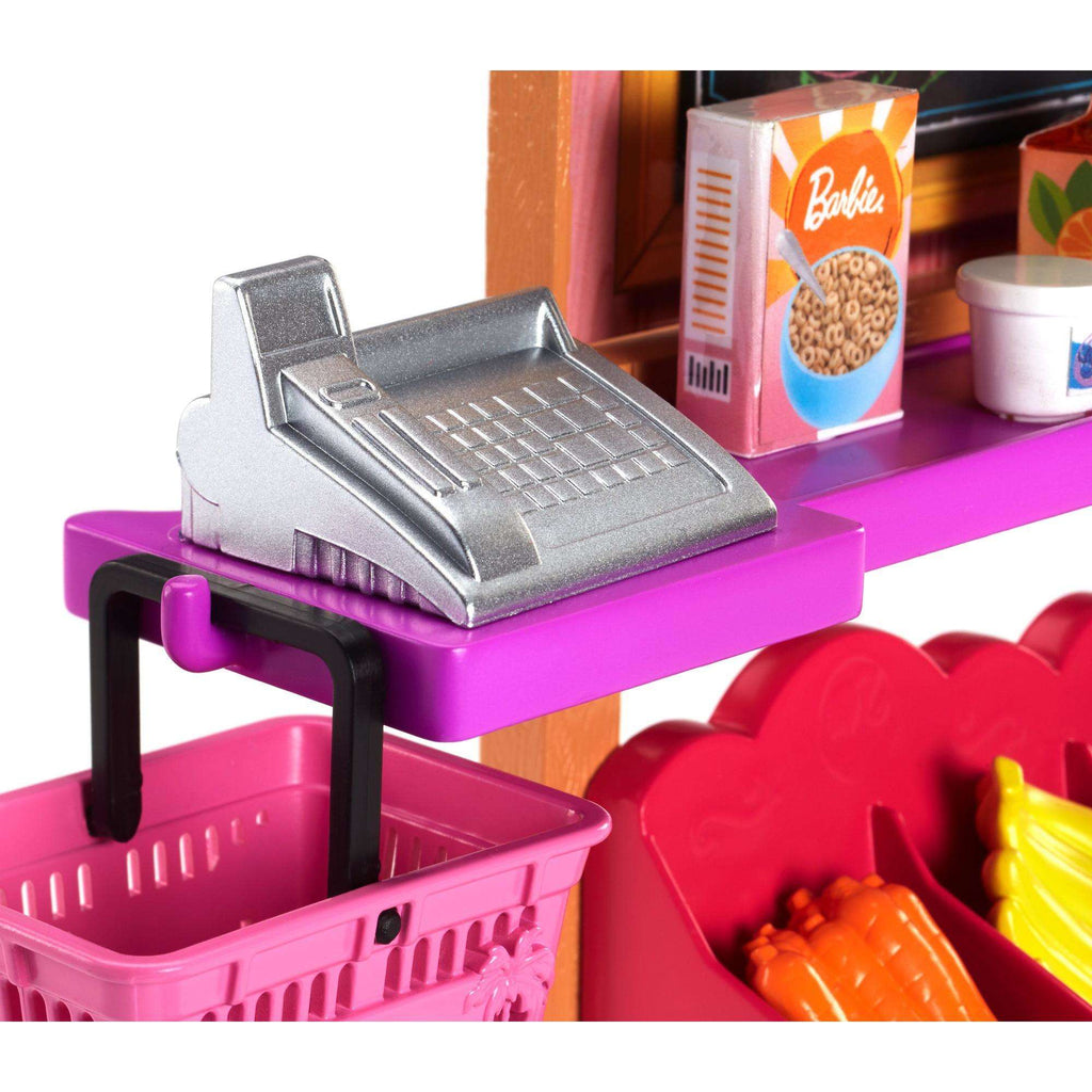 Barbie Careers Grocery Supermarket Register Food Stand Playset