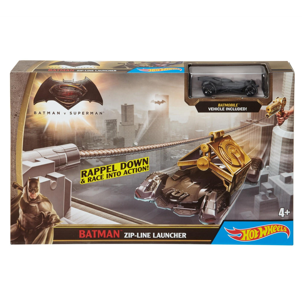Hot Wheels DC Universe Batman Zipline Launcher Track Set