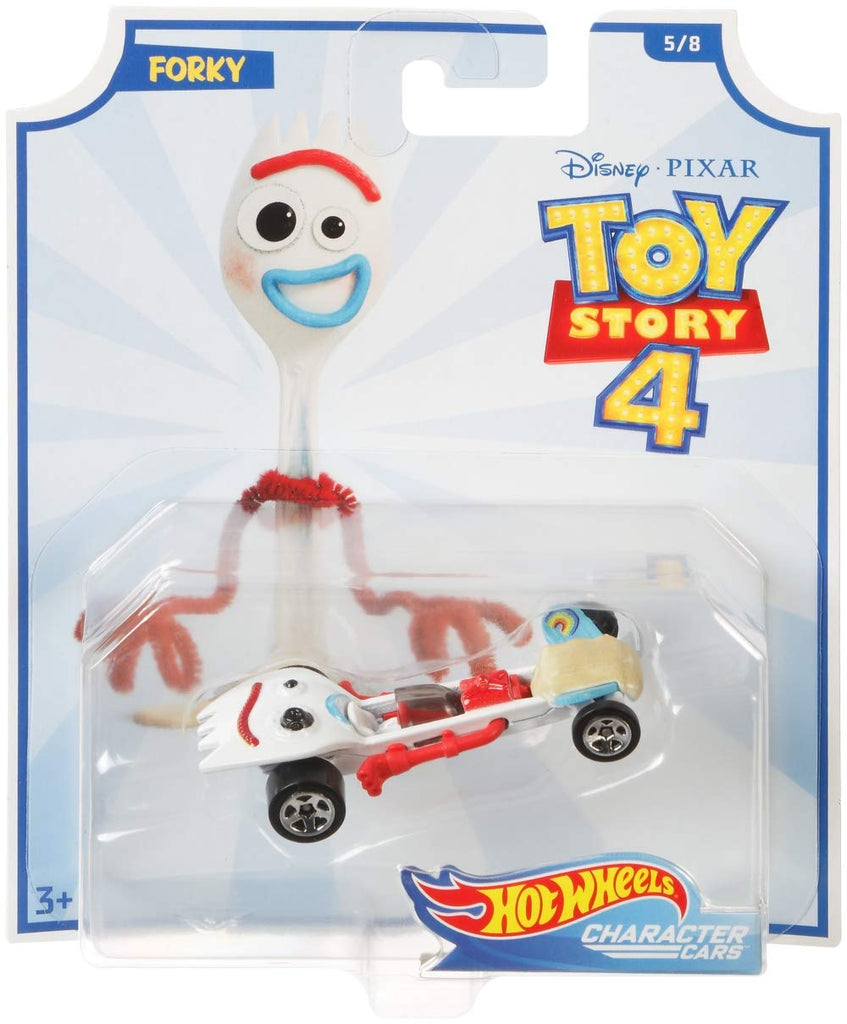 Hot Wheels Disney Pixar Toy Story Forky Character Car