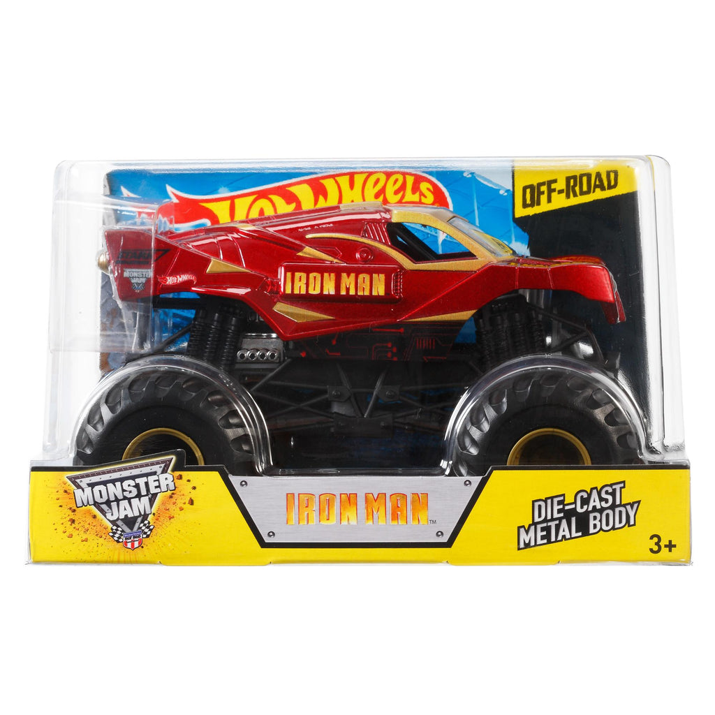 Hot Wheels Monster Jam Off-Road Iron Man Die-Cast Metal Body Vehicle