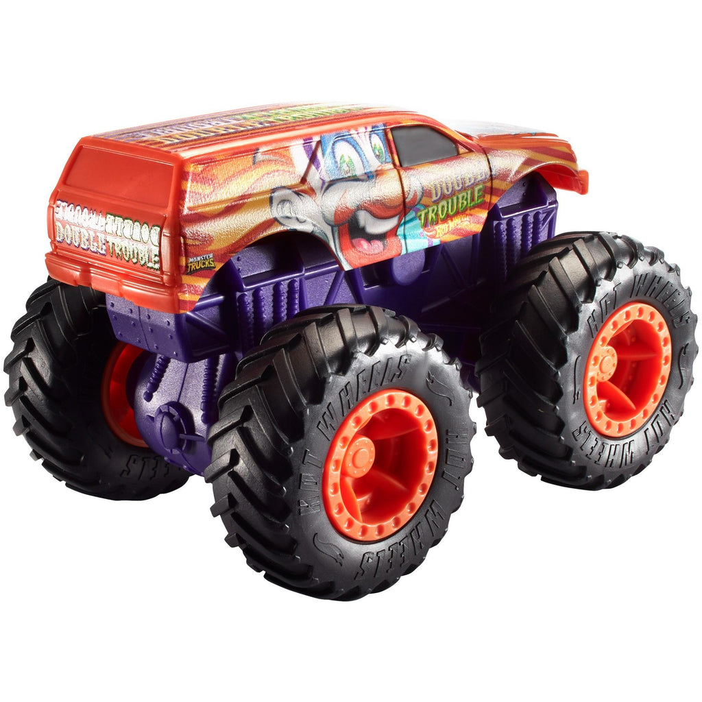 Hot Wheels Monster Trucks 1:43 Scale Double Trouble Rev Tredz Truck