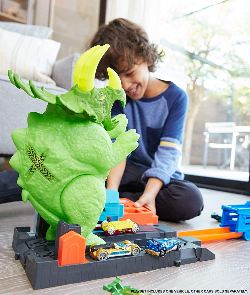 Hot Wheels Smashin' Triceratops Playset