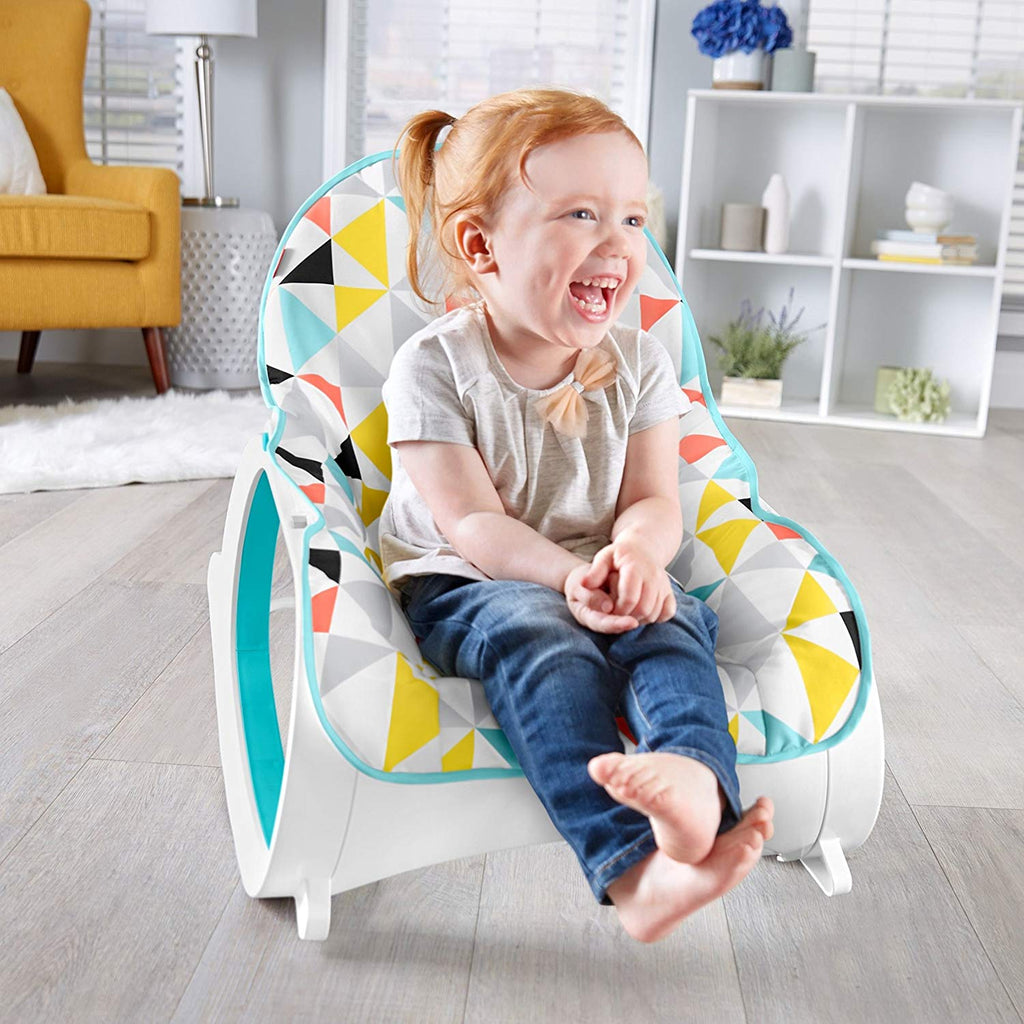 Infant-to-Toddler Rocker, Yellow/Blue/White / Grey