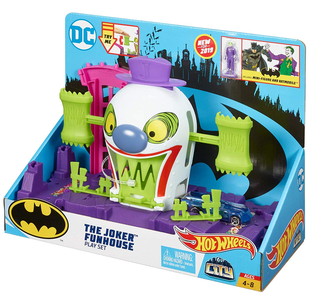 Hot Wheels DC The Joker Playset