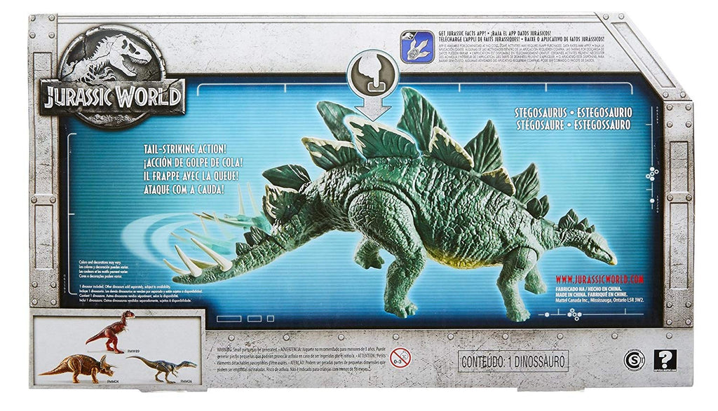 Jurassic World Action Attack Stegosaurus Figure
