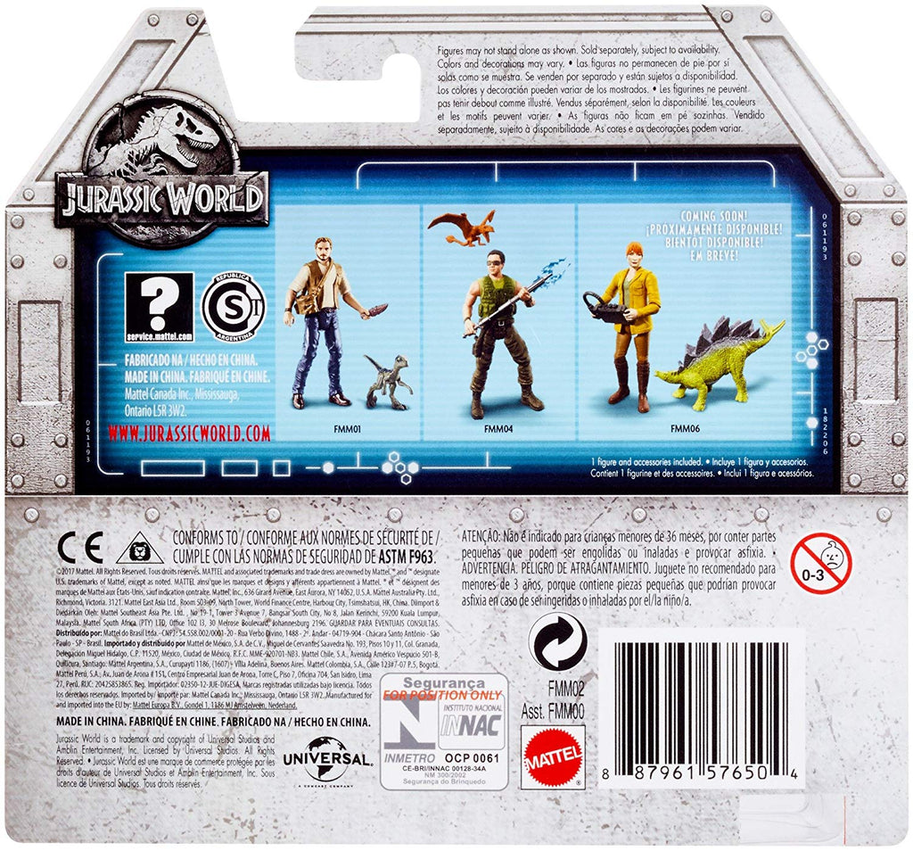 Jurassic World Basic Figure Velociraptor Trainer Owen Figure