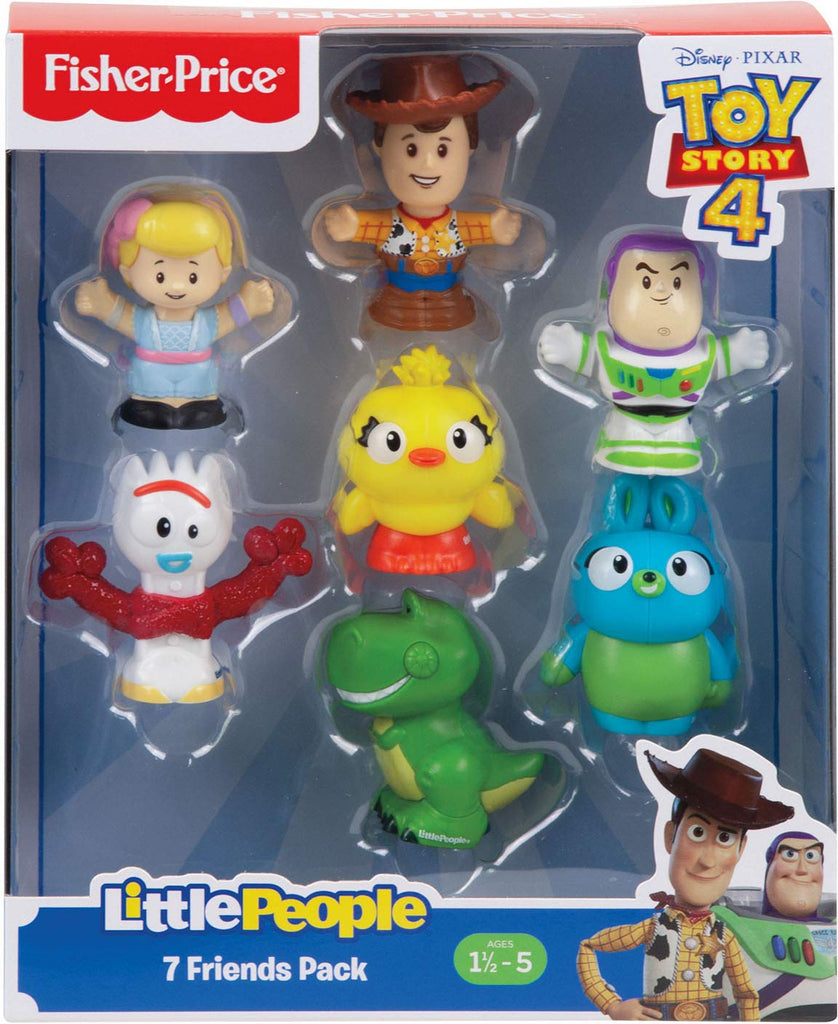 Little People Disney Pixar Toy Story 4 Character Figure 7-Pack