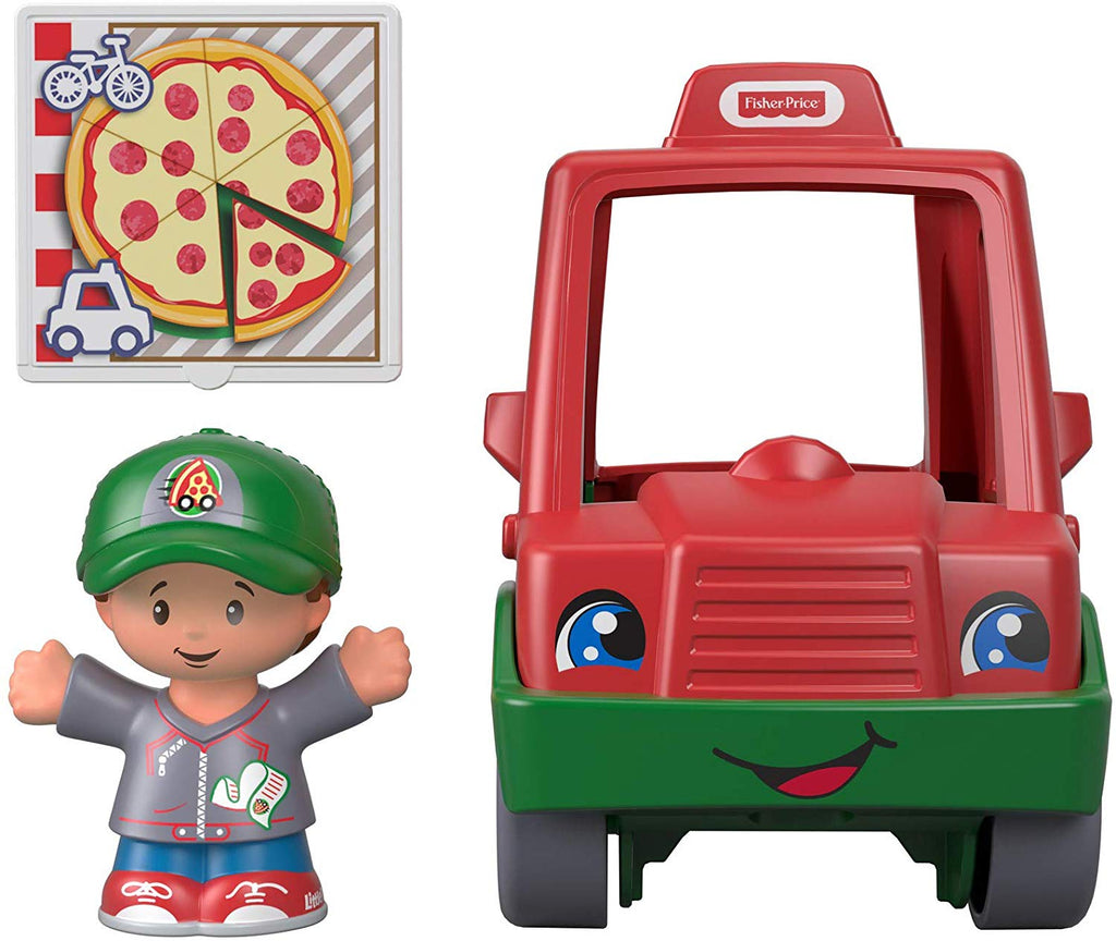 Little People Have a Slice Pizza Delivery Car