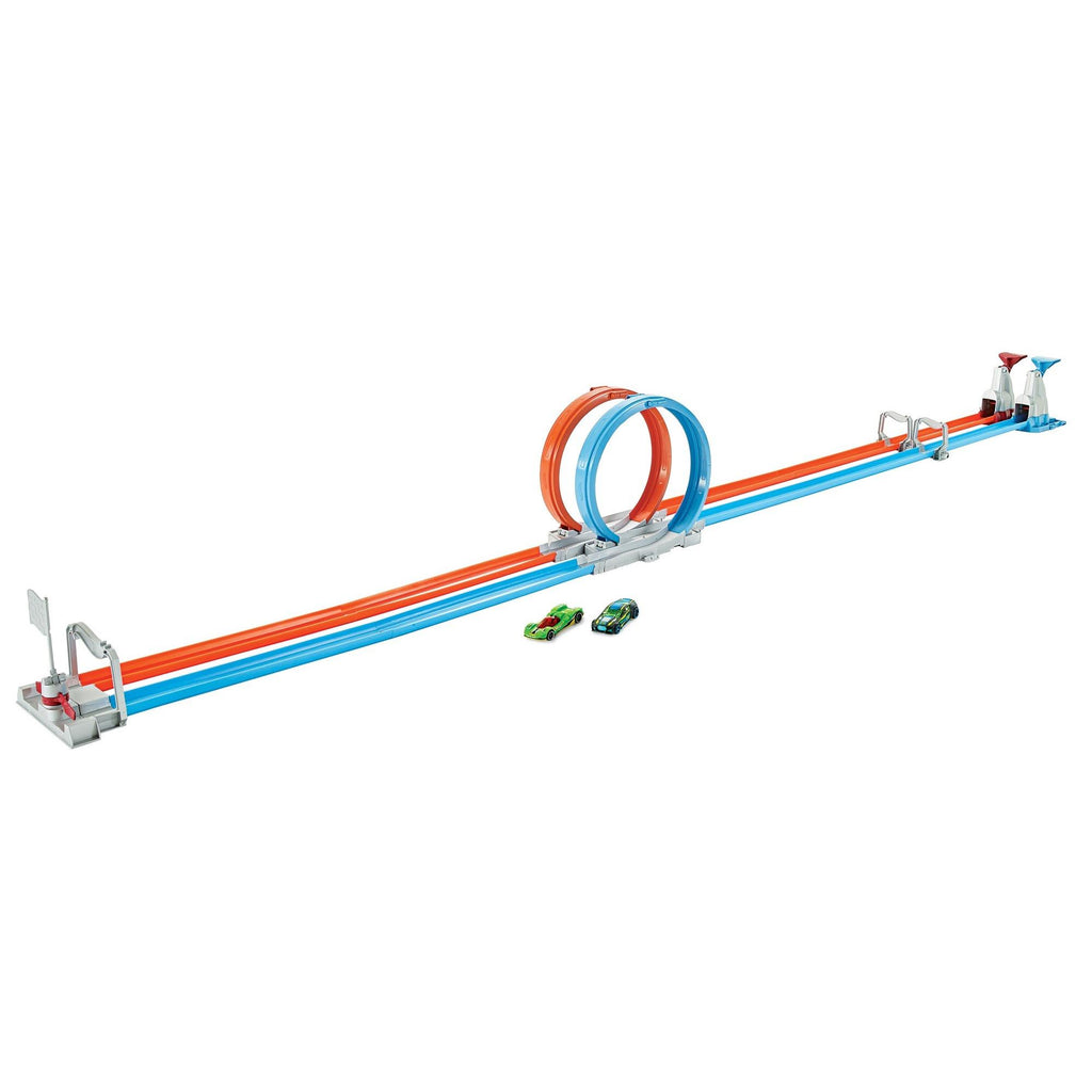 Hot Wheels Double Loop Dash Drag Racing Playset