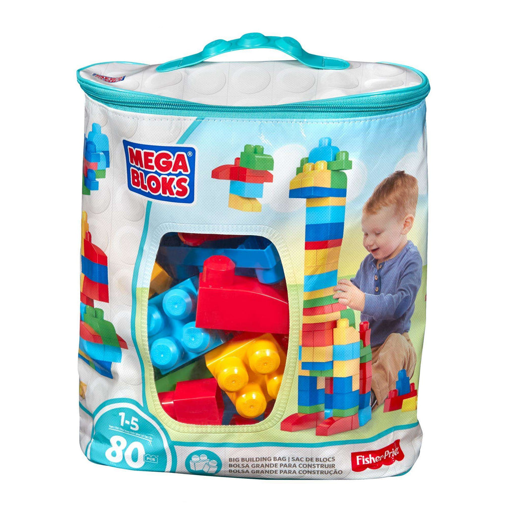Mega Bloks First Builders Big Building Bag 80-Piece Classic