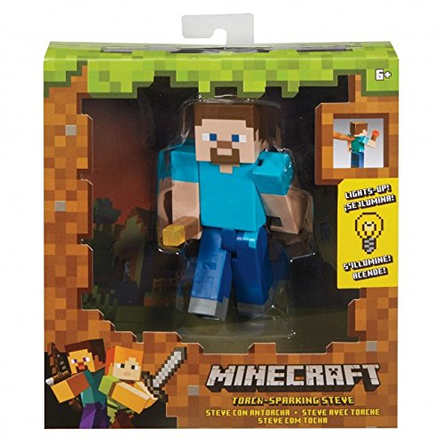 Minecraft Steve With Torch Figure