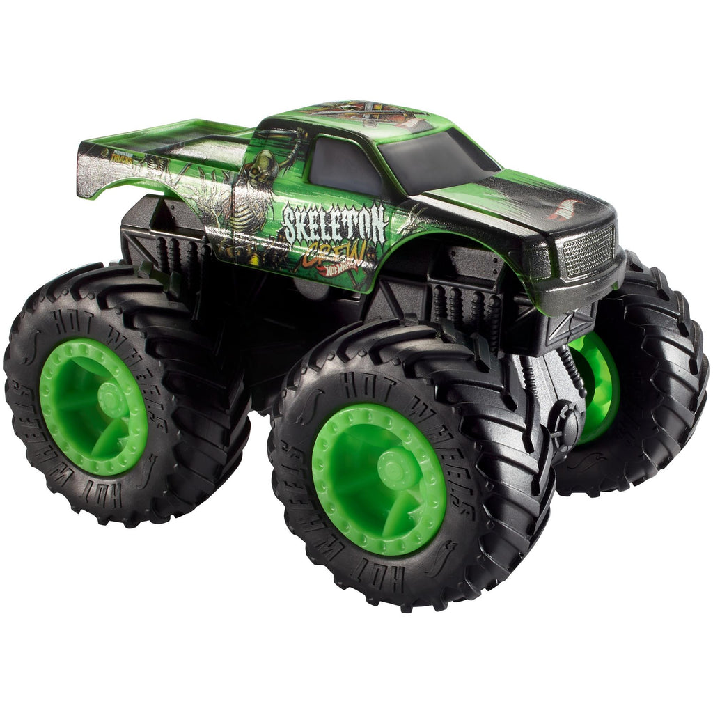 Hot Wheels Monster Trucks 1:43 Scale Skeleton Crew Rev Tredz Toy Truck