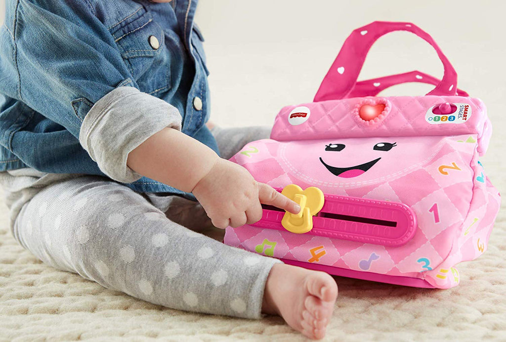 Fisher-Price Laugh & Learn My Smart Purse, Pink, Musical Baby Toy