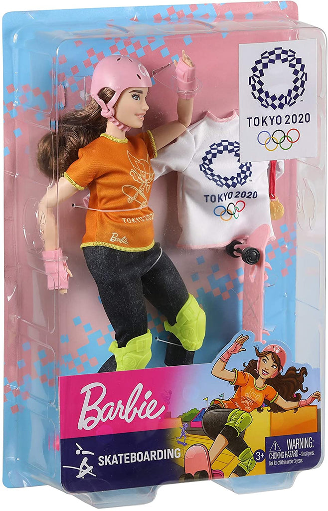 Barbie Olympic Games Tokyo 2020 Skateboarder Doll and Accessories