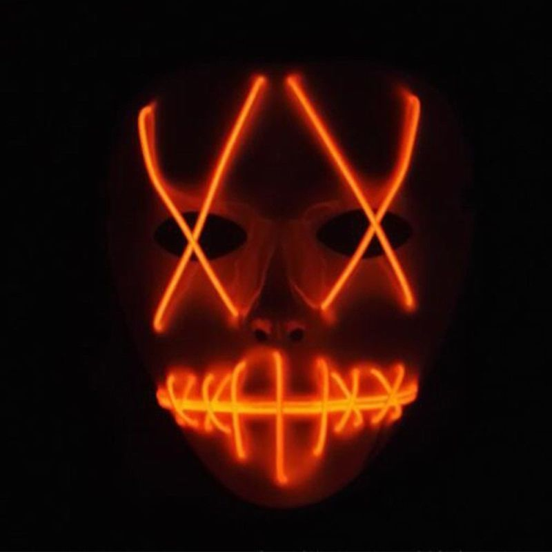 Halloween Scary Mask Cosplay Led Costume Mask Light Up The Purge Movie