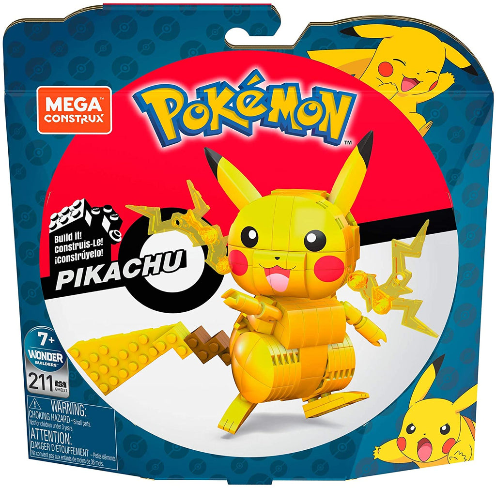 Mega Construx Pokemon Pikachu Figure Building Set with Battle Action