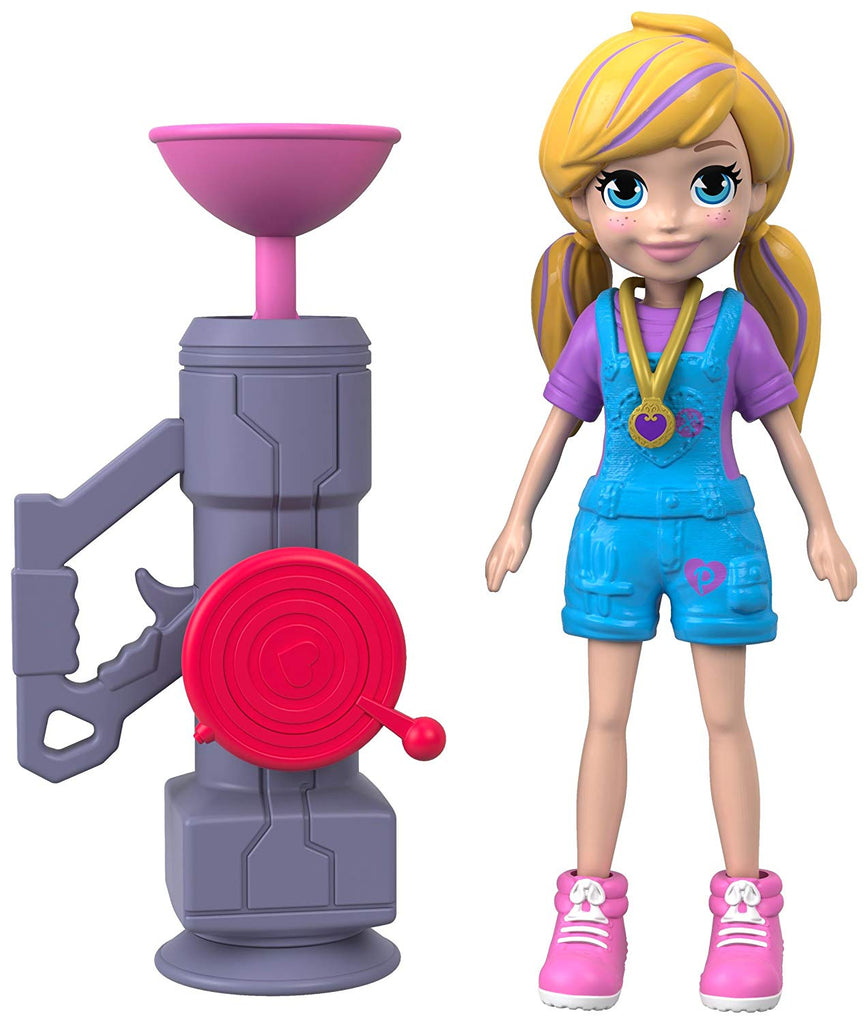 Polly Pocket Active Pose Doll, Zipline Polly