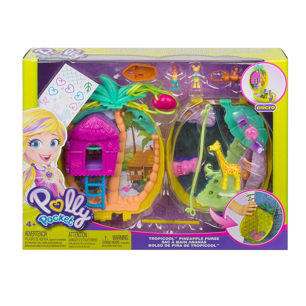 Polly Pocket Polly & Lila Tropicool Pineapple Wearable Purse Compact