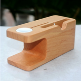 iWatch iPhone Bamboo Charging Stand