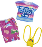 Barbie Toy Story Clothes: You've Got A Friend in Me Top, Character Skirt & Backpack