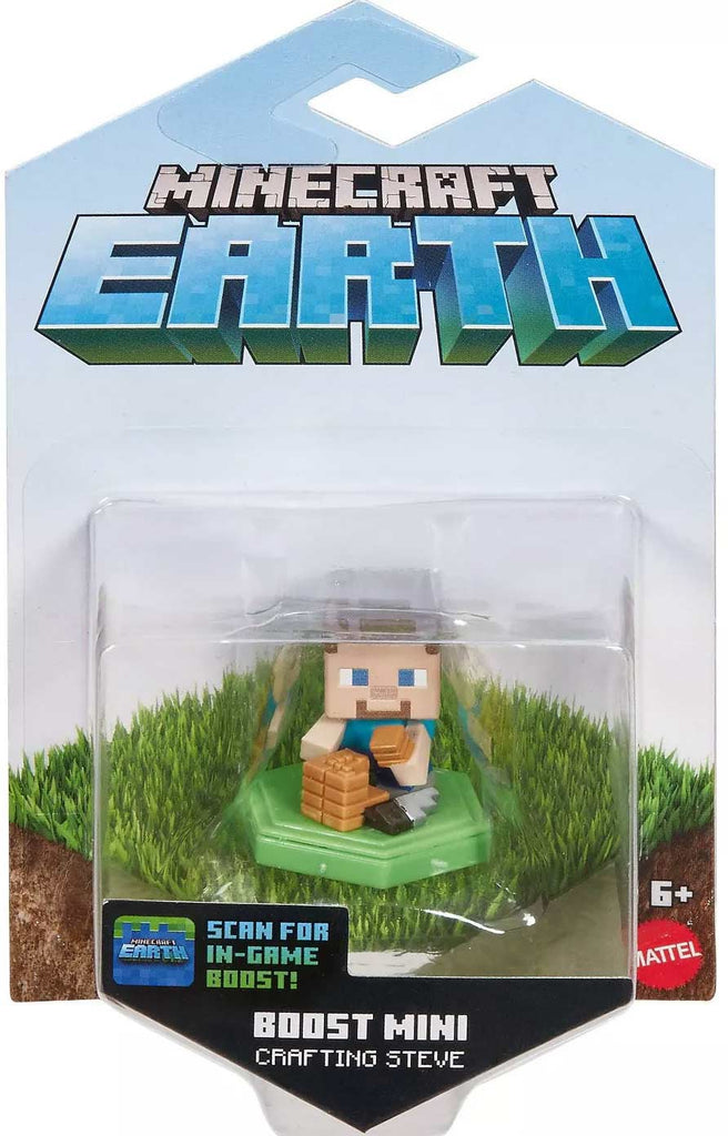 Minecraft Earth Boost Mini Crafting Steve Figure