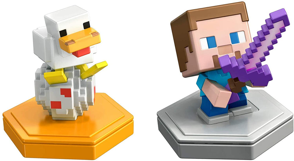 Minecraft Earth Boost Mini Attacking Steve & Spawning Chicken Figure