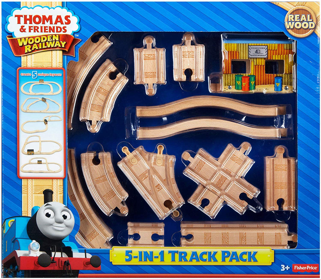 Thomas & Friends Wooden Railway, 5-in-1 Track Pack