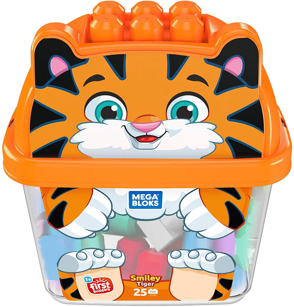 Smiley Tiger 25-Piece Building Block Set