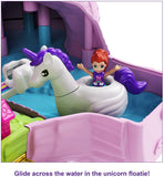 Polly Pocket Unicorn Party Large Compact Playset with Micro Polly & Lila Dolls, 25+ Surprises