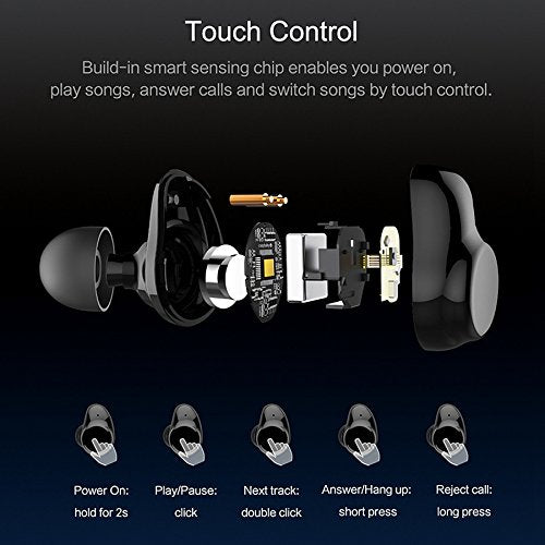 Wireless Earbuds X7 Mini Bluetooth 4.2 Headphones In-Ear Noise Isolating Earphones with Mic Smart Touch Control and Portable Charging Box