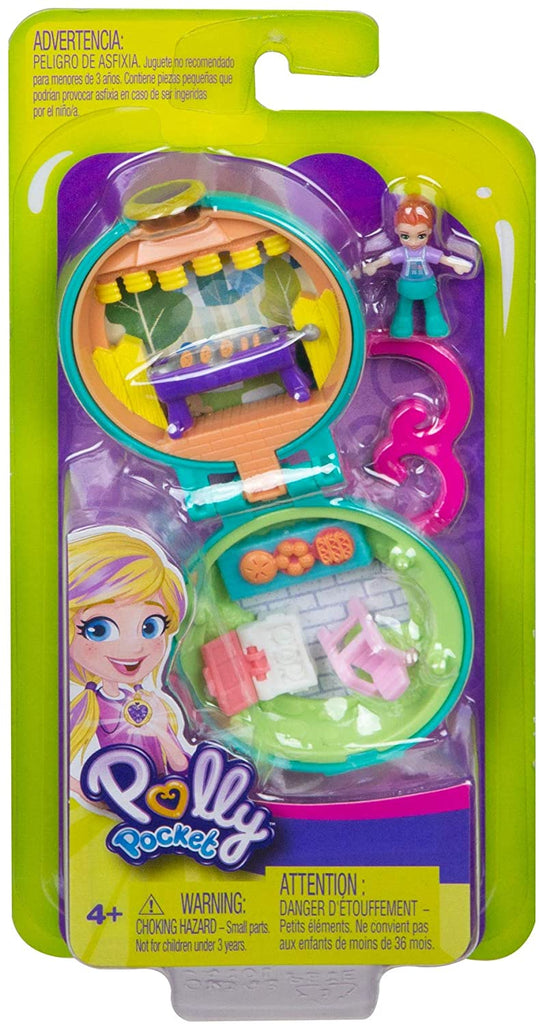Polly Pocket Tiny Pocket Places Lila BBQ Micro Doll And Accessories