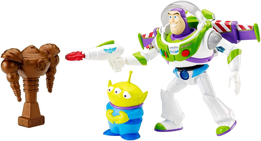 "Mattel Disney/Pixar Toy Story Feature Figure 7"" Space Ranger Buzz Light-year & Alien Action Figure (3 Pack)"