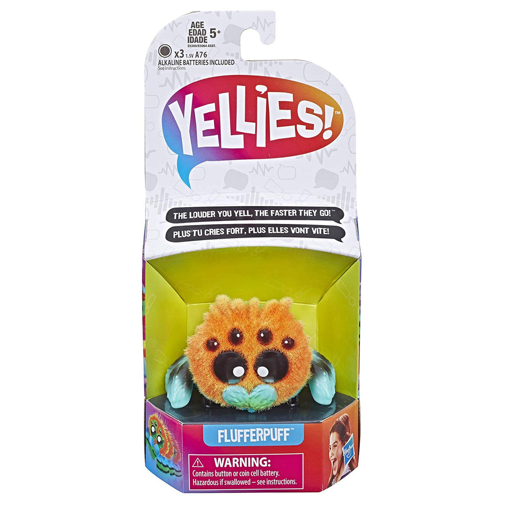 Yellies! Flufferpuff; Voice-Activated Spider Pet; Ages 5 and up