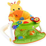 Sit-Me-Up Floor Seat with Tray, Giraffe