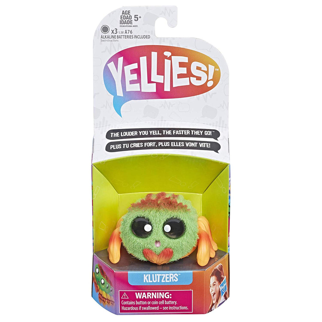 Yellies! Klutzers; Voice-Activated Spider Pet; Ages 5 and up