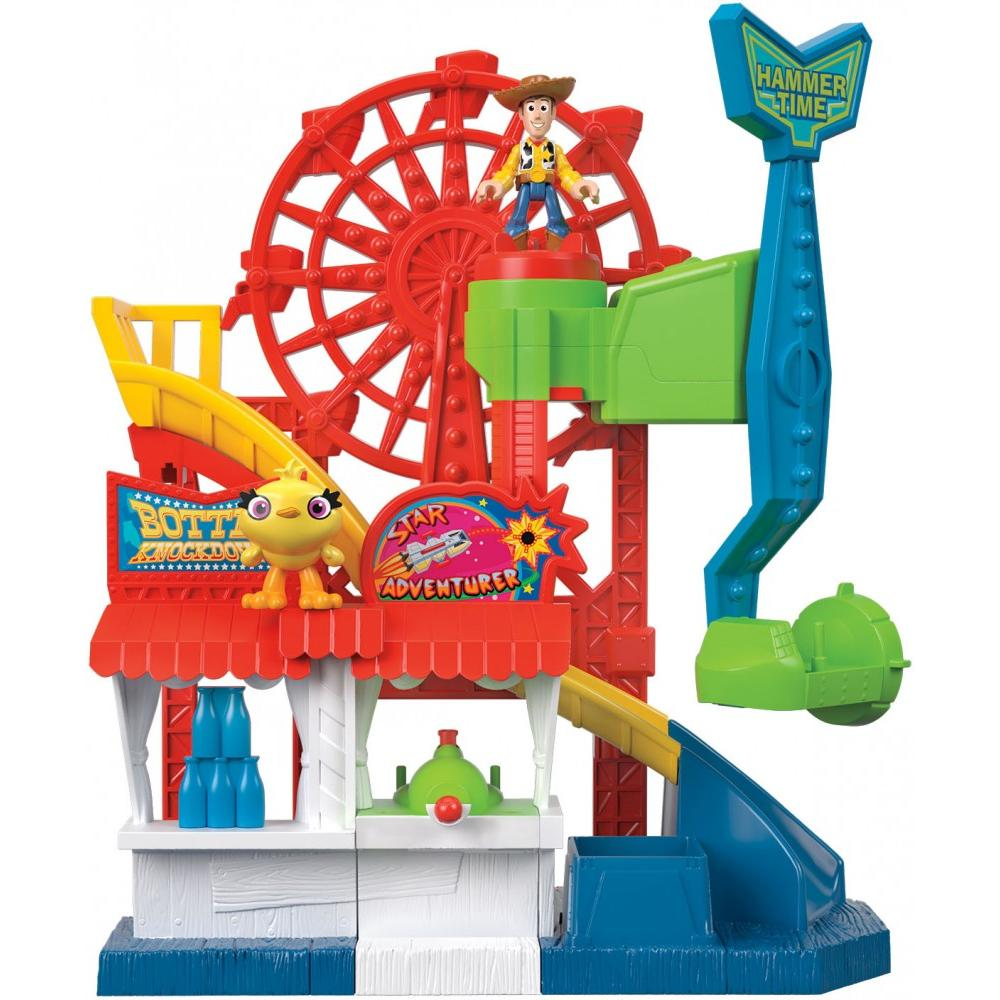 Imaginext Disney Pixar Toy Story Carnival Playset with Woody & Ducky