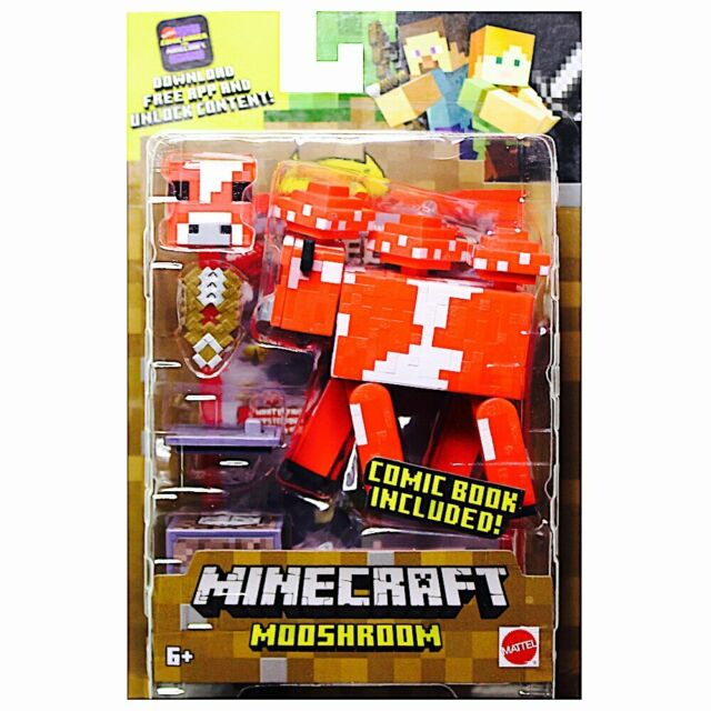 Minecraft Mooshroom Comic Maker Action Figure