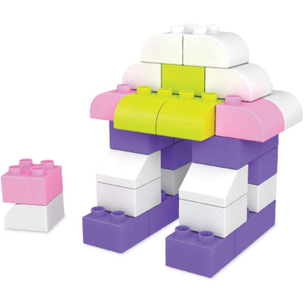 Mega Bloks Building Basics Let's Build! Pink