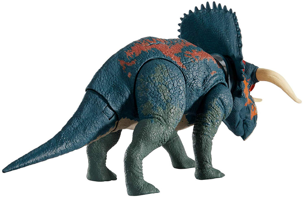 Jurassic World ~ DUAL ATTACK NASUTOCERATOPS ACTION FIGURE ~ Dino Rivals